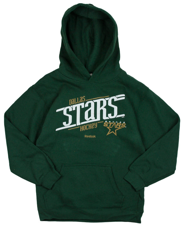 Reebok NHL Hockey Youth Dallas Stars Custom Fleece Hoodie Sweatshirt - Green