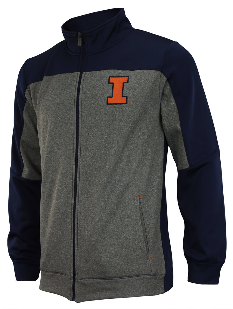 Outerstuff NCAA Men's Helix Full Zip Track Jacket, Illinois Fighting Illini