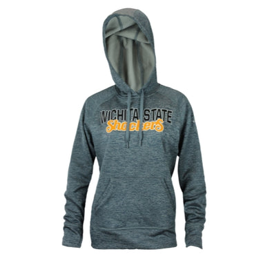 Adidas NCAA College Women's Wichita State Shockers Pullover Hoodie - Charcoal
