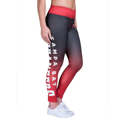 Forever Collectibles NFL Women's Tampa Bay Buccaneers Gradient 2.0 Wordmark Legging