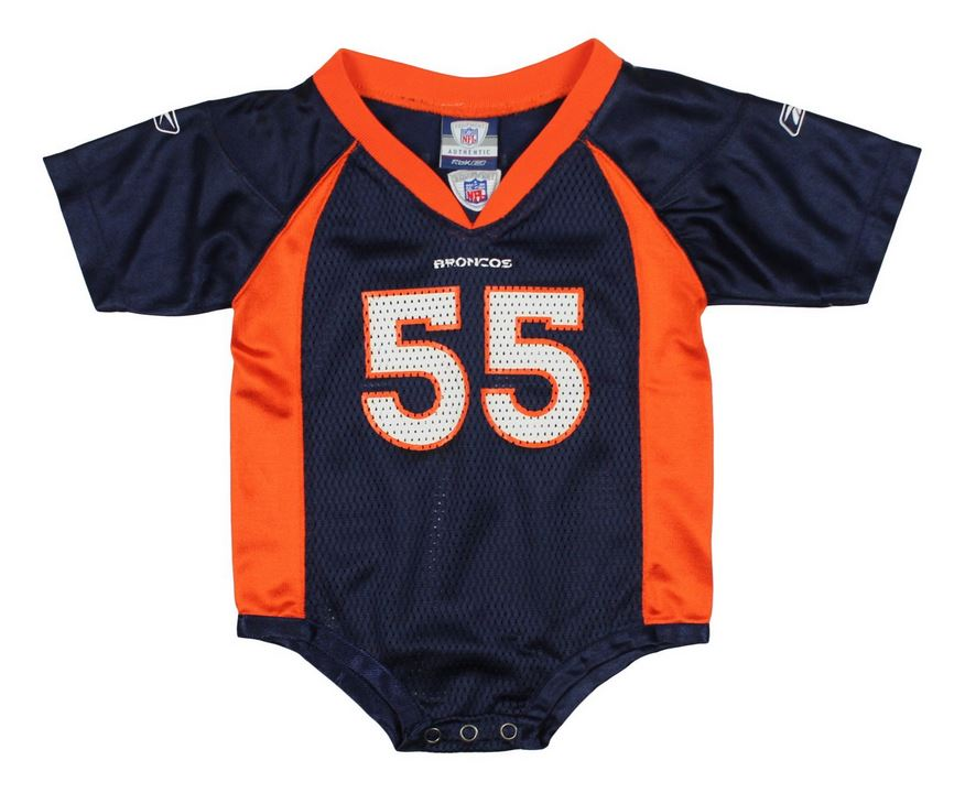 brand new 376a4 d5510 Reebok NFL Infants Denver Broncos D.J. Williams #55 Creeper Jersey