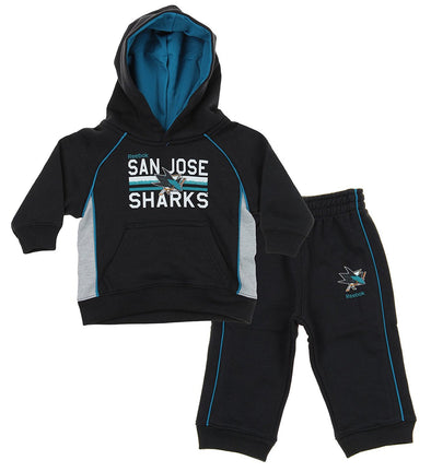 NHL Todders / Infants San Jose Sharks Classic Fan 2 Piece Hoodie & Pant Set