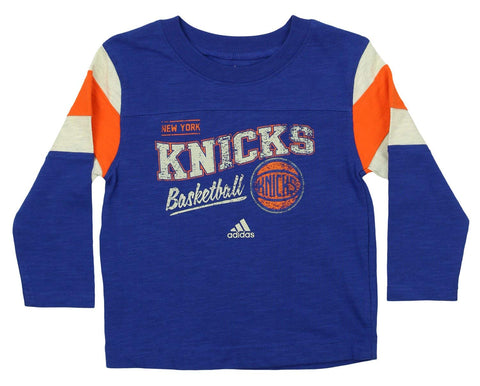 Adidas NBA Toddler's New York Knicks Classic Long Sleeve Slub Tee