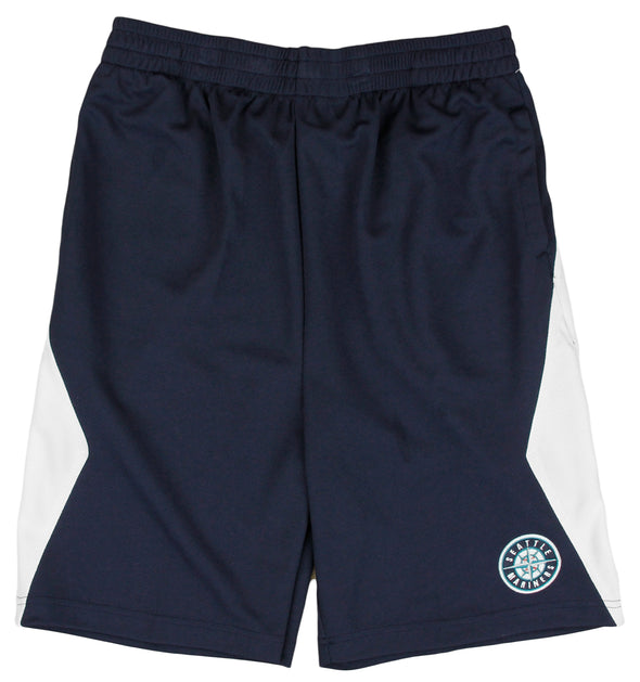 MLB Baseball Kids / Youth Seattle Mariners Team Round Logo Shorts - Navy