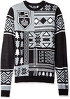 Klew NHL Men's Los Angeles Kings Patches Ugly Sweater, Black