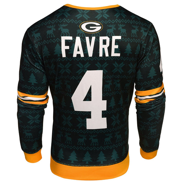 NFL Men's Green Bay Packers Brett Favre Retired Player Ugly Sweater