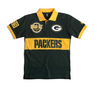 FOCO NFL Men's Green Bay Packers Wordmark Rugby Short Sleeve Polo Shirt