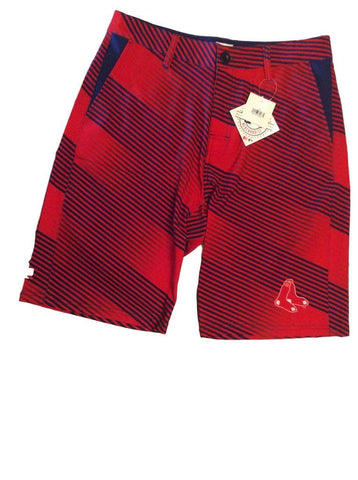 Forever Collectibles MLB Men's Boston Red Sox Diagonal Stripe Walking Shorts