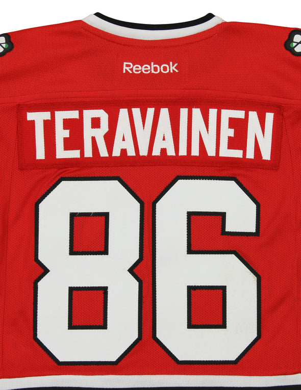 Reebok NHL Kids Chicago Blackhawks Teuvo Teravainen #86 Player Jersey, Red