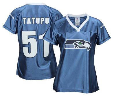 NFL Football Women's Seattle Seahawks Lofa Tatupu # 51 Dazzle Fashion Jersey
