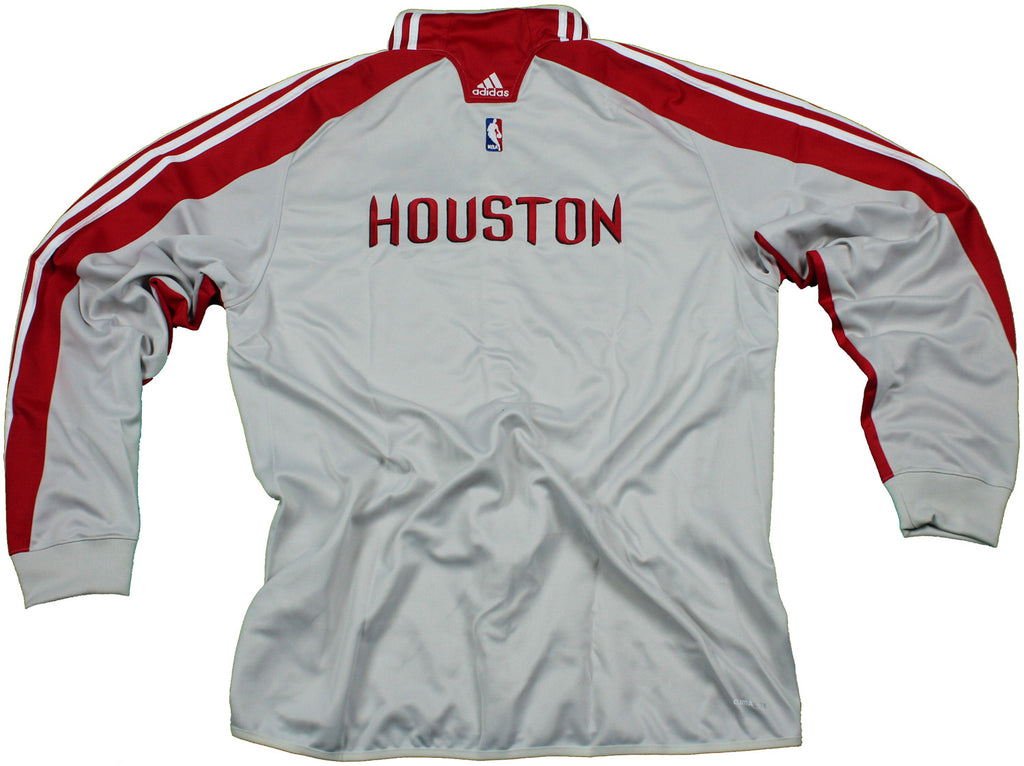 NBA Houston Rockets Adidas On Court Warm Up Buttoned Track Jacket ... d8defefed