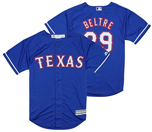 200f5a3e2 Majestic MLB Youth Texas Rangers Adrian Beltre #29 Alternate Replica Jersey
