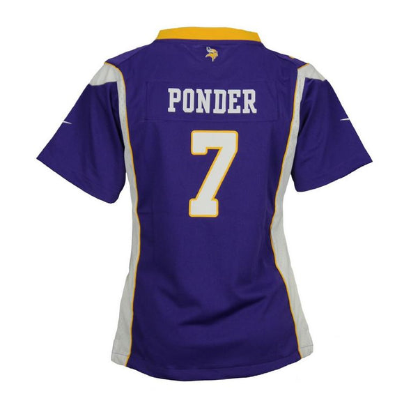 Nike NFL Football Youth Girls Minnesota Vikings Christian Ponder #7 Game Jersey