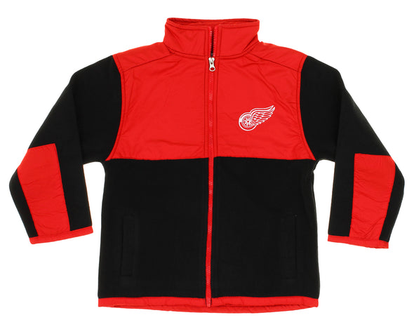 NHL Youth/Little Kids Detroit Red Wings Danali Fleece Jacket, Red/Black