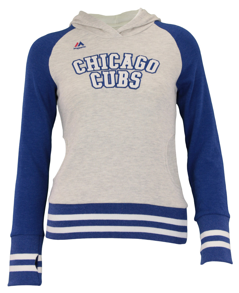 check out 56f55 54cc9 Majestic MLB Youth Girls Chicago Cubs Good Ol Days Hoodie