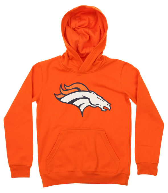 OuterStuff NFL Youth Denver Broncos Primary Team Logo Fleece Hoodie, Orange