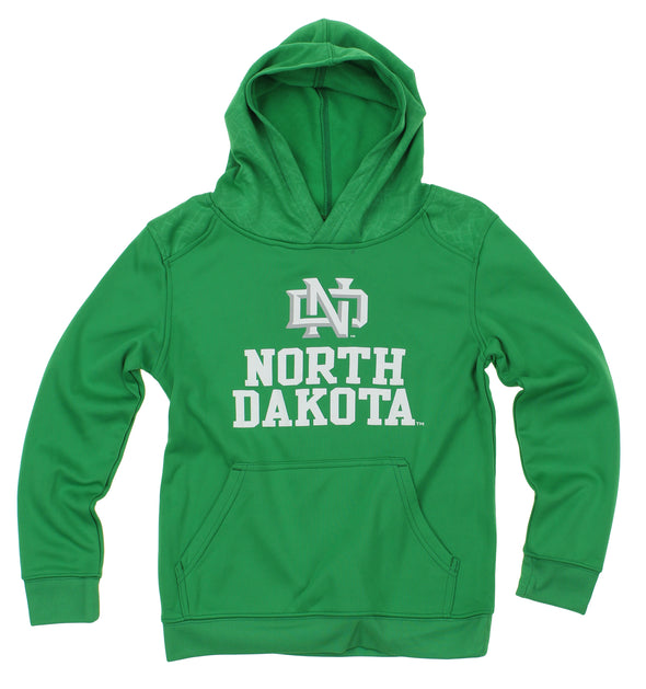 NCAA Youth North Dakota Fighting Hawks Performance Hoodie, Green