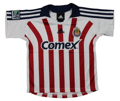 Adidas Club Deportivo Chivas USA MLS Soccer Toddlers Away Jersey Polo Top Shirt