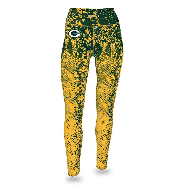 Zubaz NFL Women's Zubaz Green Bay Packers Logo Leggings