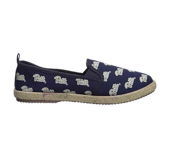 FOCO NCAA Women's Pittsburgh Panthers Espadrille Canvas Slip On Shoe