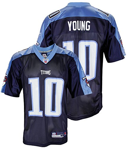 new arrival 1130e 4fbfb Reebok NFL Men's Tennessee Titans Vince Young #10 Replica Jersey, Navy