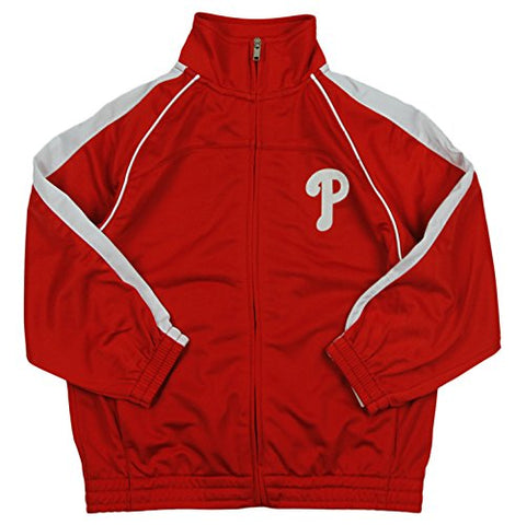 MLB Baseball Youth Philadelphia Phillies Tricot Track Jacket - Red