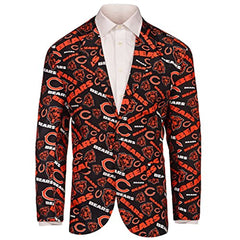 Forever Collectables NFL Men's Chicago Bears Ugly Business Jacket, Navy/Orange