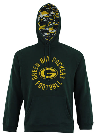 Zubaz NFL Men's Green Bay Packers Camo Lined Pullover Hoodie