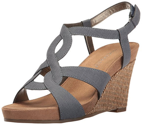 Aerosoles Women's Fabuplush Wedge Sandal, Blue