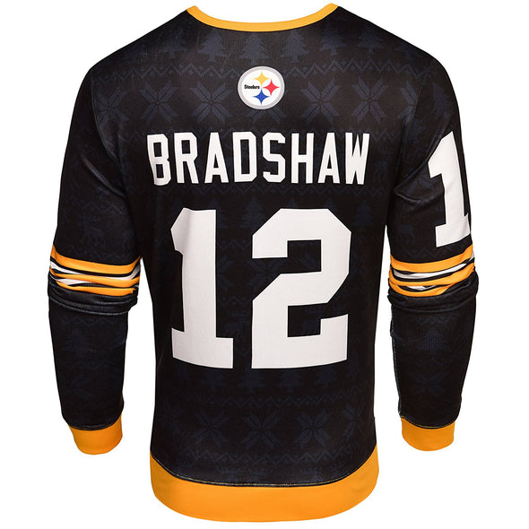 NFL Men's Pittsburgh Steelers Terry Bradshaw #12 Retired Player Ugly Sweater
