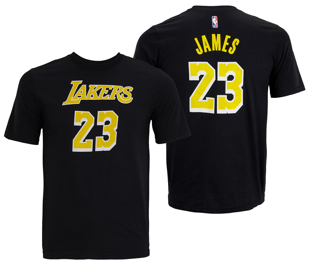 ee99cce4cab NBA Youth Los Angeles Lakers Lebron James #23 Player Tee Shirt, Black