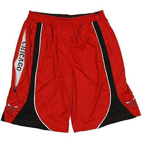 Zipway NBA Men's Big & Tall Chicago Bulls Basketball Team Shorts, Red