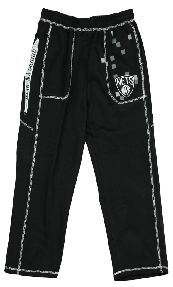 Zipway NBA Basketball Youth Brooklyn Nets Digi Fleece Lounge Pants, Black