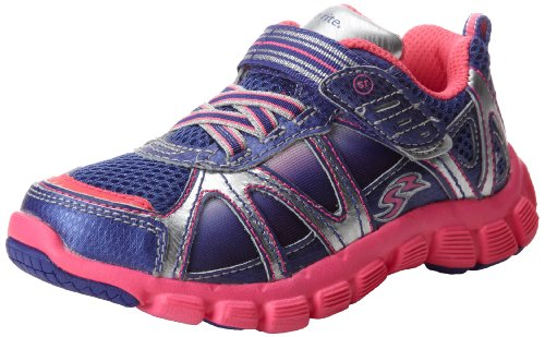 Stride Rite Little Kids Girls Racer Light-Up Starpower 525 Sneakers Shoes, Purple / Pink