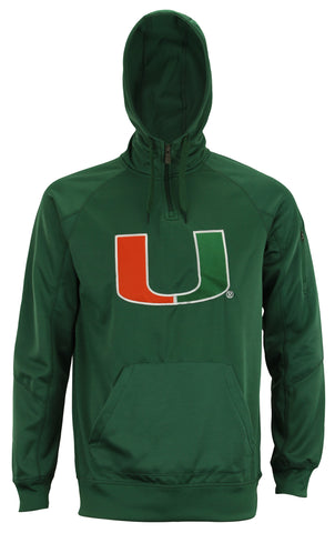"Outerstuff Men's NCAA Miami Hurricanes ""Fan Basic"" 1/4 Zip Hoodie"