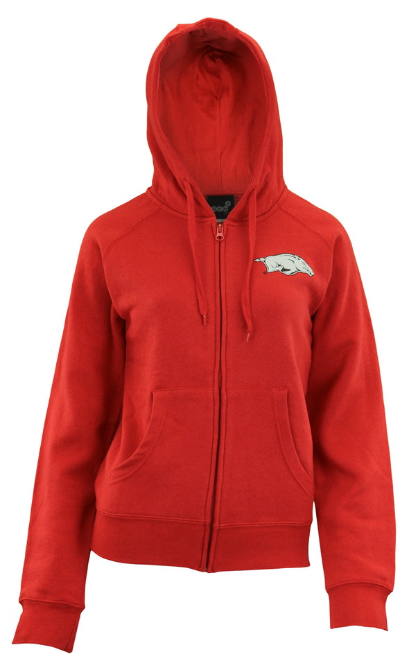 Gen 2 NCAA Women's Arkansas Razorbacks Team Logo Hoodie, Red