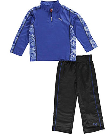 Puma Little Boy's Kids Swift Arrow 2-Piece Performance Outfit Set, Competition Blue