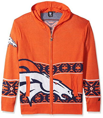 6a5f3a362 Forever Collectibles NFL Men s Denver Broncos Full Zip Hooded Sweater
