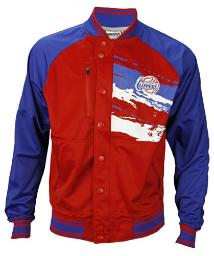 Zipway NBA B-Ball Youth Boy's Los Angeles Clippers Classic Splash Track Jacket, Red/Blue