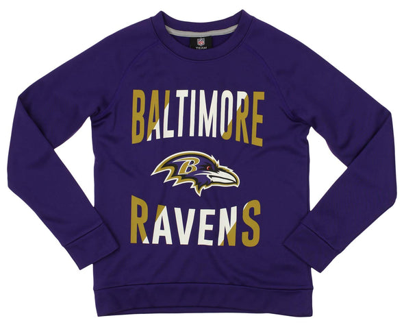 Outerstuff NFL Youth/Kids Baltimore Ravens Performance Fleece Sweatshirt