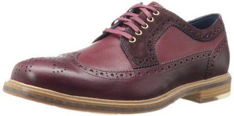 Cole Haan Men's Cooper SQ Wingtip Oxfords Shoes, Tawny Port