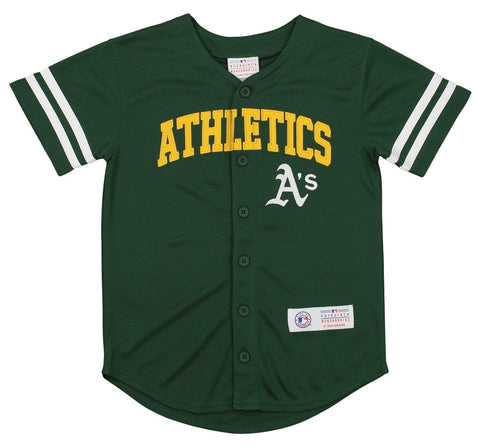 Outerstuff MLB Youth Oakland Athletic Button Up Jersey