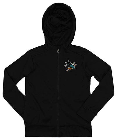 quality design 3a92f ded38 Outerstuff NHL Youth Kids San Jose Sharks Performance Full Zip Hoodie