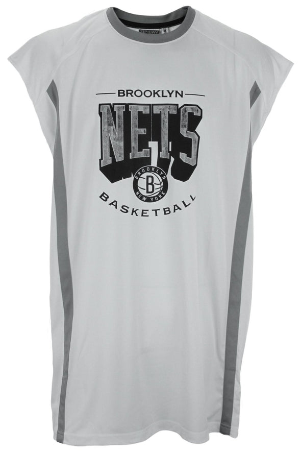 Zipway NBA Big Men's Basketball Brooklyn Nets Sleeveless Muscle Shirt, White