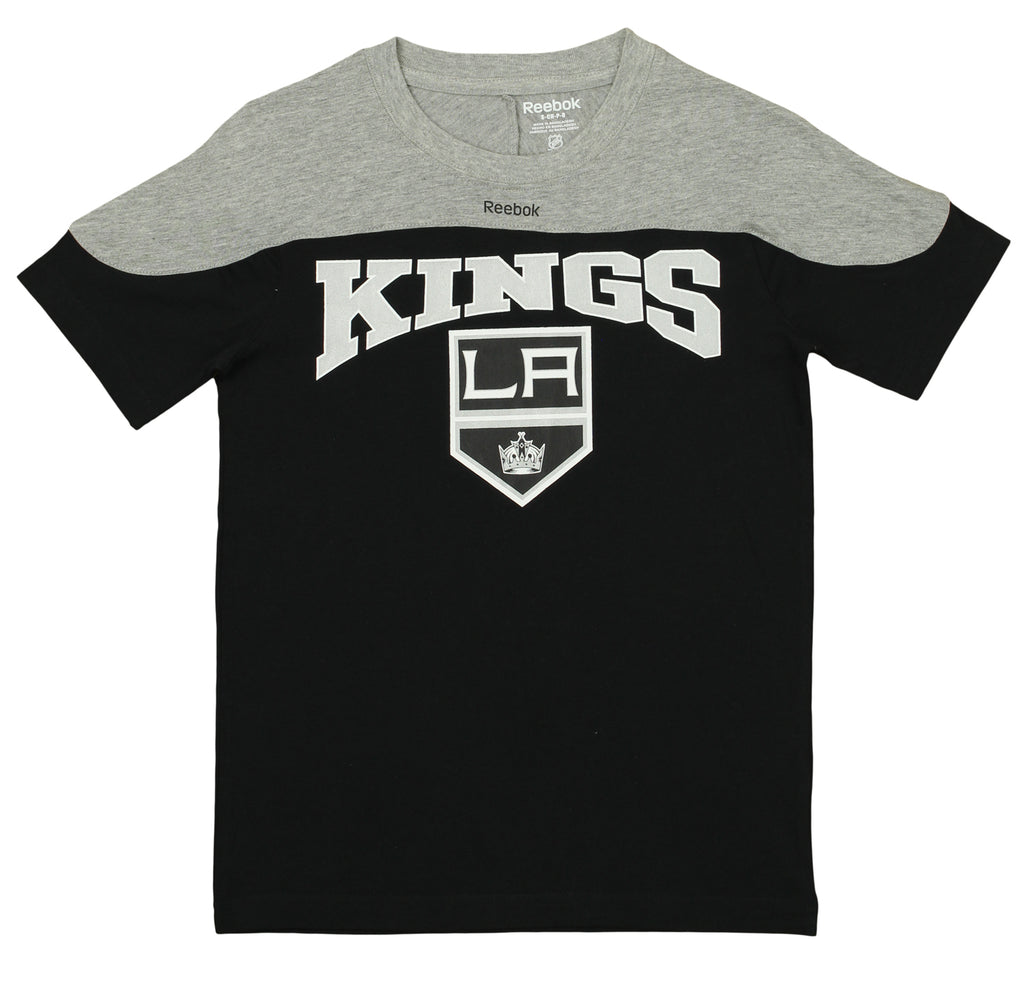 7037f09b7 Reebok NHL Youth Los Angeles Kings Primary Logo Word Mark