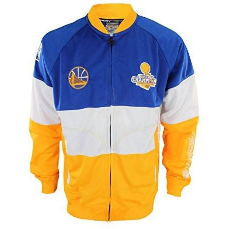d0e85049f Zipway NBA Mens Golden State Warriors Stamped Full Zip Athletic Jacket –  Fanletic