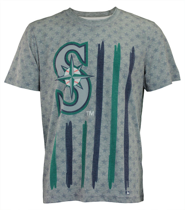 Forever Collectibles MLB Men's Seattle Mariners Big Logo Flag Tee