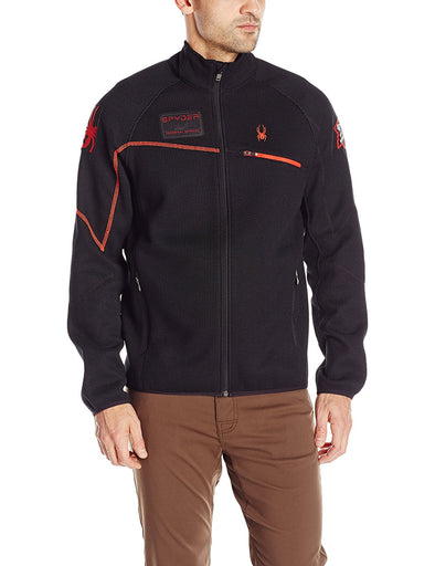 Spyder Men's Alps Full Zip Jacket, Black/Volcano