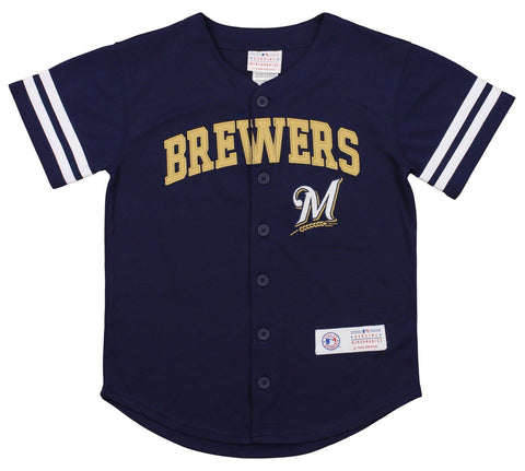 Outerstuff MLB Youth Milwaukee Brewers Button Up Jersey