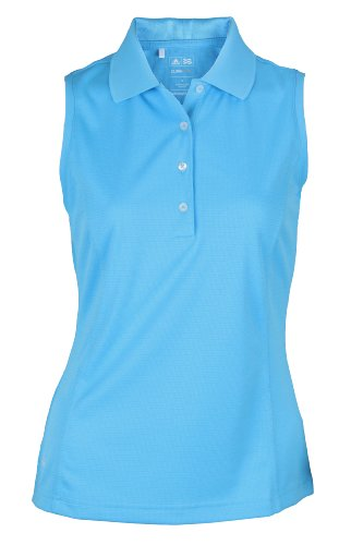 Adidas Taylormade Women's Climacool Sleeveless Solid Polo Shirt, Cosmic Blue